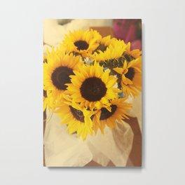 Sunflowers Bouquet - Summer Vibes Metal Print