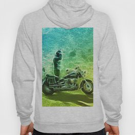 Abstract motorcycle fun Hoody
