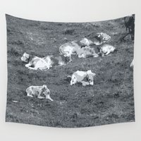 cows Wall Tapestries featuring Cows by Mr & Mrs Quirynen