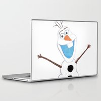 olaf Laptop & iPad Skins featuring olaf likes warm hugs  by Art_By_Sarah