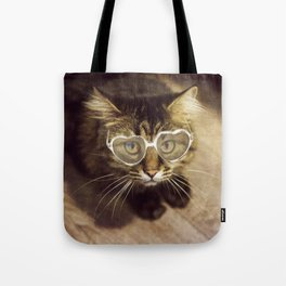 Hypnotic kitty with sunglasses Tote Bag