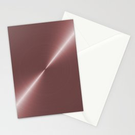 Pale Rose Gold Metal Stationery Cards