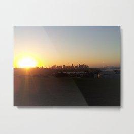 Sydney Sights Sunset Metal Print