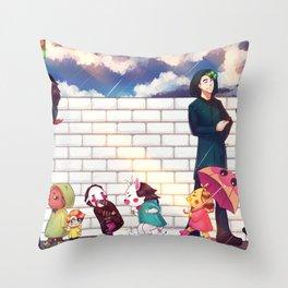 When it rains - Markiplier + Jacksepticeye Throw Pillow