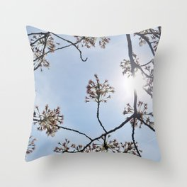 Petals and Sky Throw Pillow