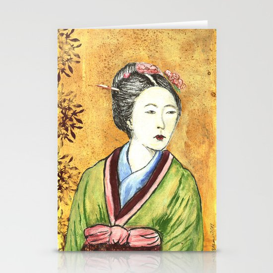 Japanese Woman Stationery Cards
