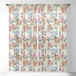 Painterly Floral Sheer Curtain