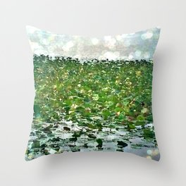 Lily Pads On The River Throw Pillow