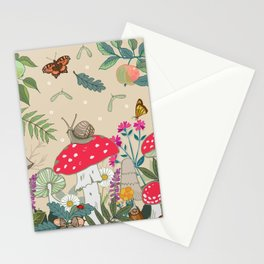 Toadstools in the Woods Stationery Cards