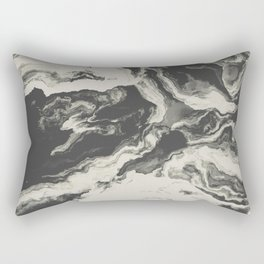 Marble Print Rectangular Pillow
