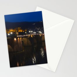 Heidelberg Bridge and Castle by Night Stationery Cards