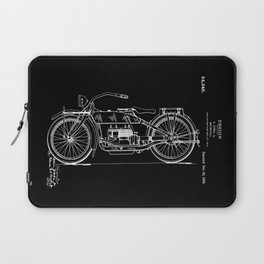 1919 Motorcycle Patent Black White Laptop Sleeve