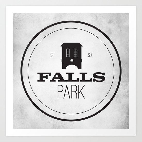 Falls Park Art Print