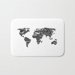 Marble World Map II Bath Mat