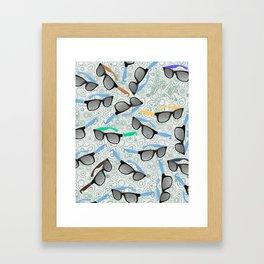 80's Shades Framed Art Print