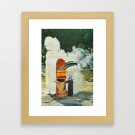 The Keeper of the Thermal Gate collects the last of the Great Airfish Framed Art Print