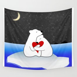 Warm hugs in the cold Wall Tapestry