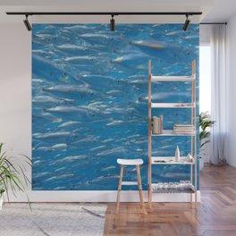 Fish shoal of common bellowsfish Wall Mural