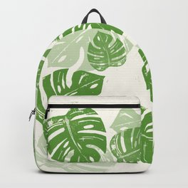 Linocut Leaf Backpack