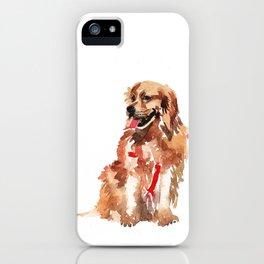 watercolor dog vol 17 golden retriever iPhone Case