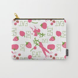eat pattern tomato cerry friute Carry-All Pouch