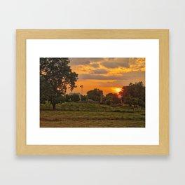 1296 - June Sunset (texture edit) Framed Art Print