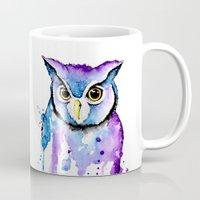 hedwig Mugs featuring Hedwig by Simona Borstnar
