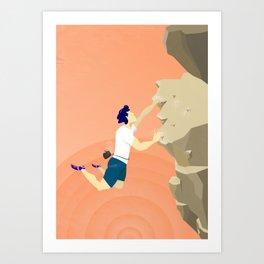Boulder Jump Art Print