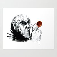 cigarette Art Prints featuring Cigarette by Anna Pietrawska