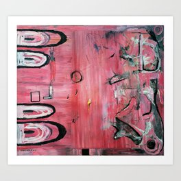 Bubblebath (oil on canvas) Art Print