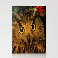 owls Stationery Cards featuring Owls by Joe Ganech