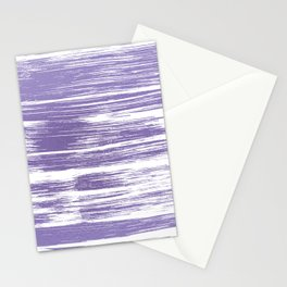 Modern abstract lilac lavender white watercolor brushstrokes Stationery Cards
