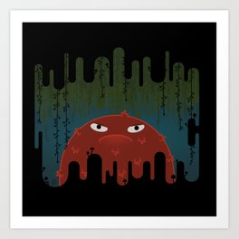 Cave Grump Art Print