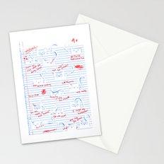 Fuzzy Homework Stationery Cards