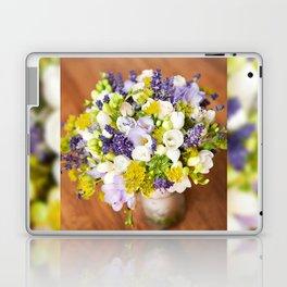 Bridal freesia bouquet wedding flowers Laptop & iPad Skin