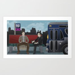 THE BUS STOP with JACK HARKNESS & PHIL COULSON Art Print