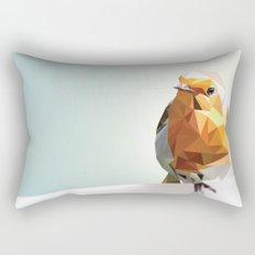 Polygon Robin Rectangular Pillow