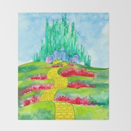 The Emerald City Throw Blanket