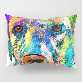Labrador Retriever Grunge Pillow Sham