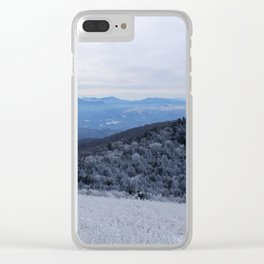 Winter at Roan Mountain Clear iPhone Case