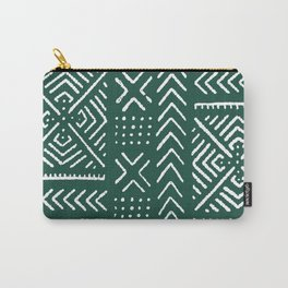 Line Mud Cloth // Brunswick Green Carry-All Pouch