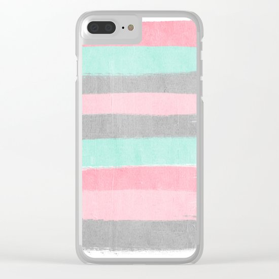 Martine - brushstrokes abstract minimal modern art print dorm college nursery gender neutral Clear iPhone Case