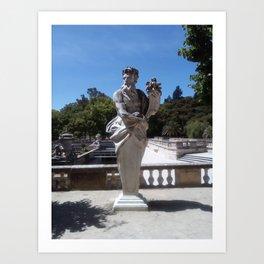 Jardins de la Fontaine, Nemoz. Art Print