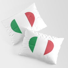 Italy  love flag heart designs  Pillow Sham