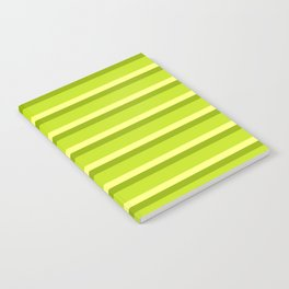 Lime Green Stripes Notebook