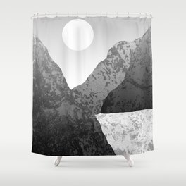 Moon and Mountains Shower Curtain