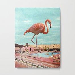 Holiday Flamingo Metal Print