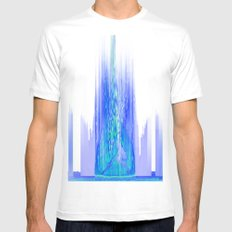 Upload (Green & Blue Channels) Mens Fitted Tee White MEDIUM