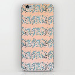 Coral teal watercolor abstract geometric stripes iPhone Skin