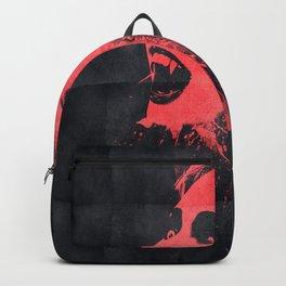 Vampire face in the dark Backpack